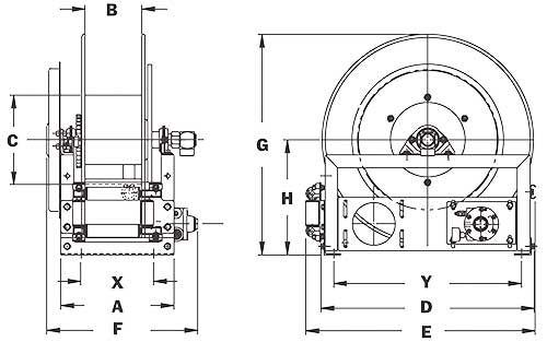 Dimensions for AG700 Series