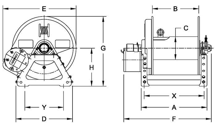 Dimensions for F4000 Series