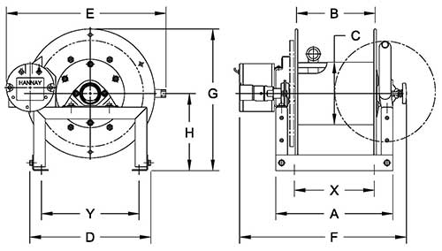 Dimensions for F4100 Series