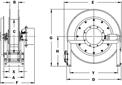 Dimensions for SCR700 Series