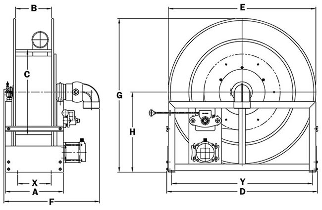 Dimensions for VAC-9000 Series